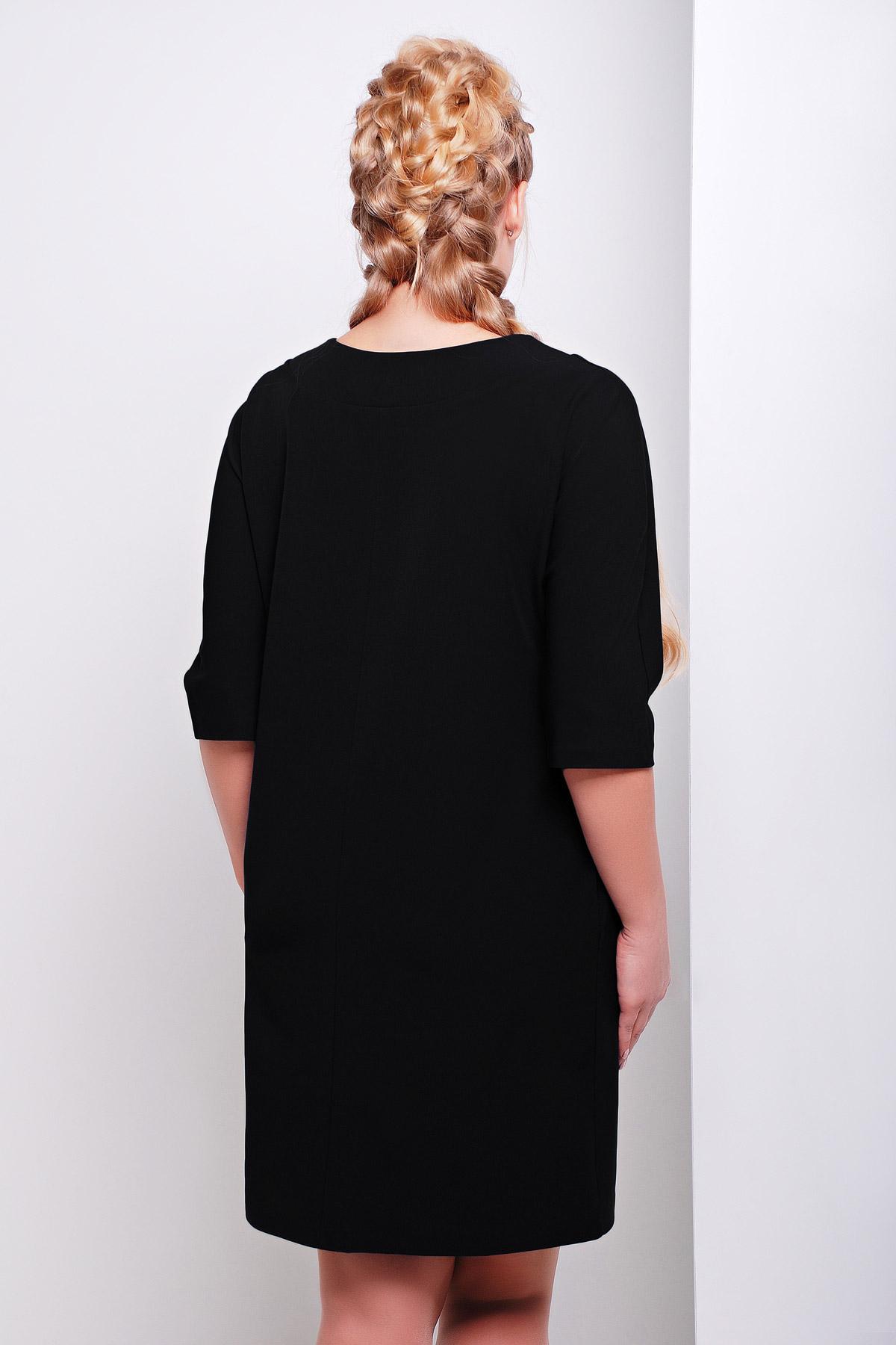 . платье Элика-Б д/р. Цвет: черный