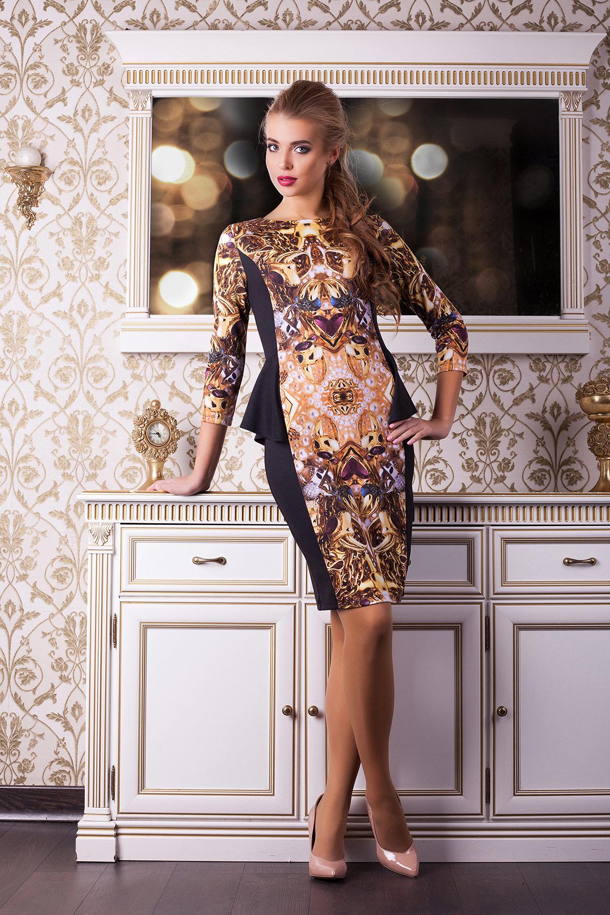 Золото платье Богемия д/р