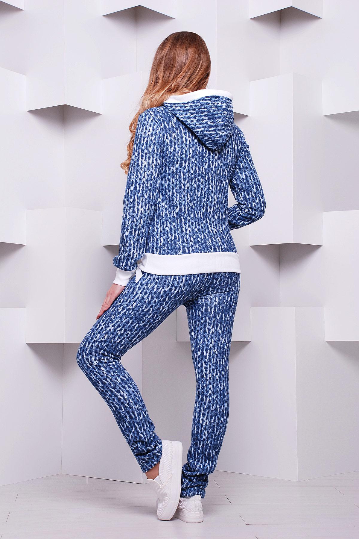 Спортивный костюм синий женский