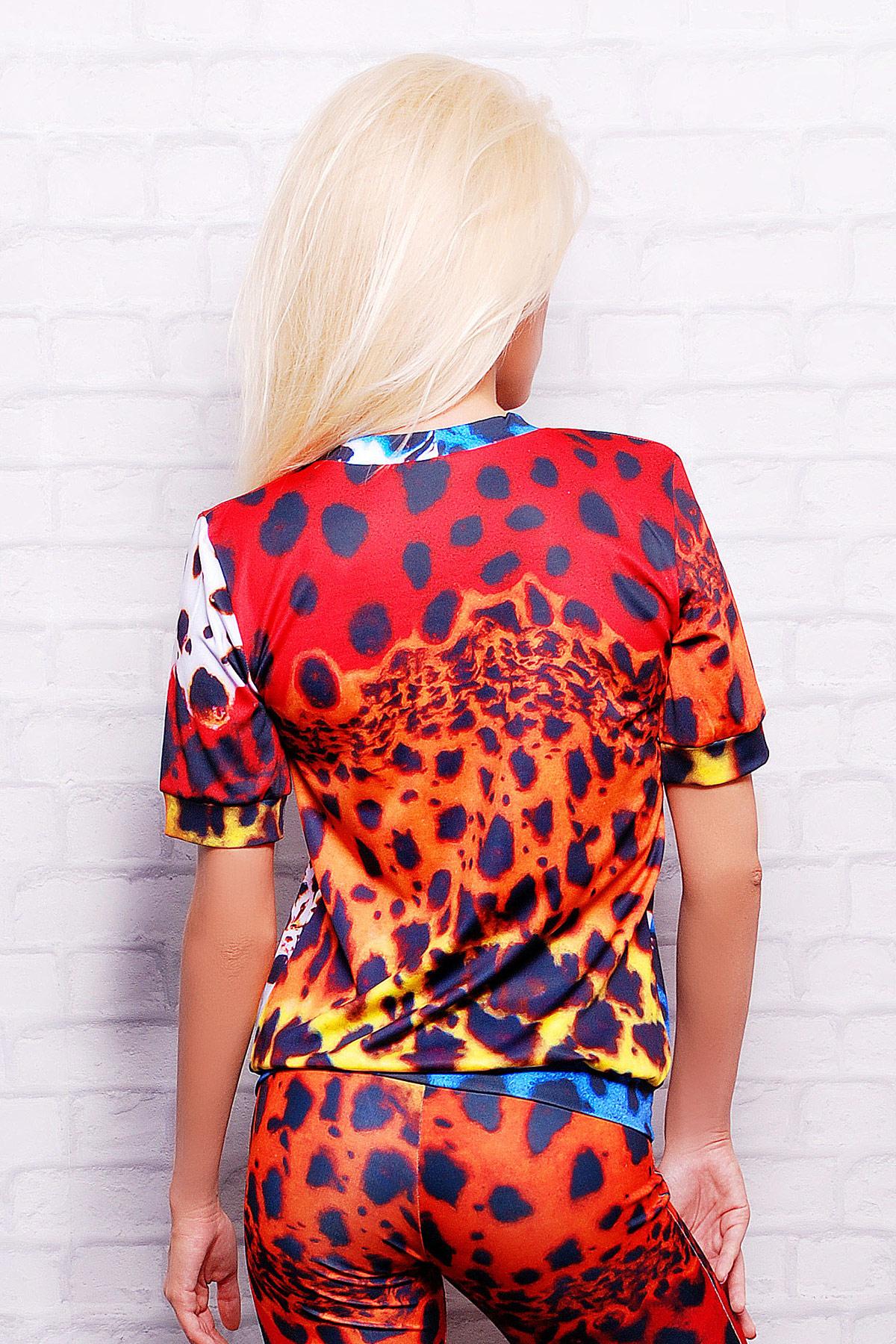 Разноцветный леопард кофта Свитшот №1М (весна) к/р