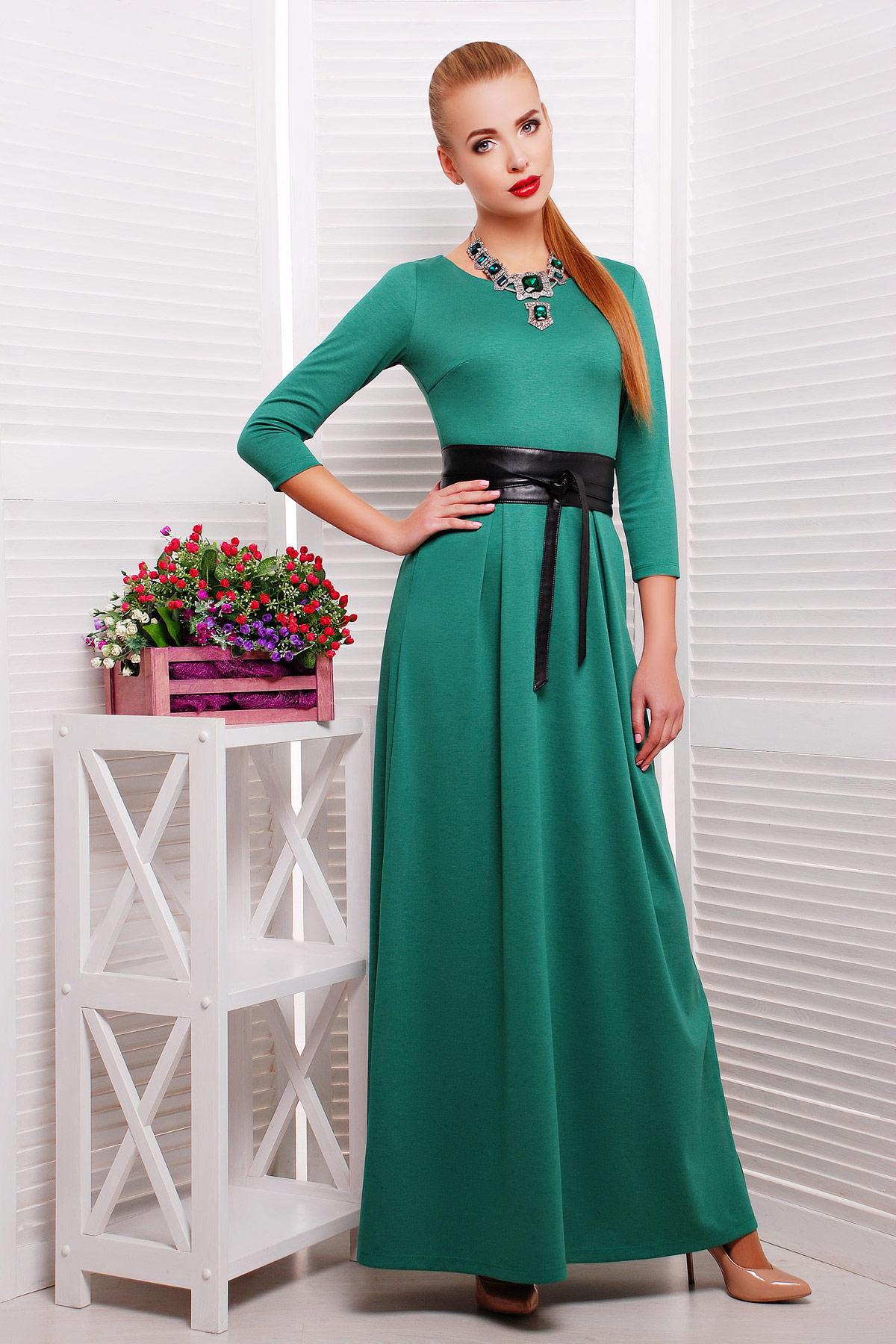 . платье Шарли3 д/р. Цвет: изумрудный