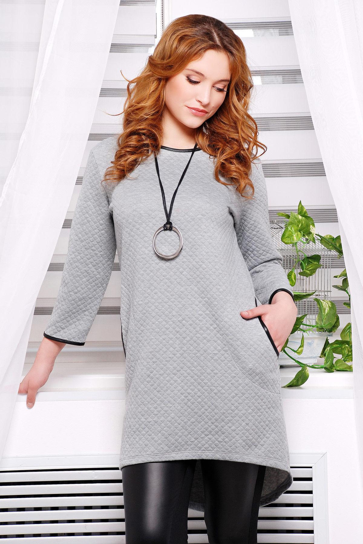 . платье Фрэнки2 д/р. Цвет: серый ромб