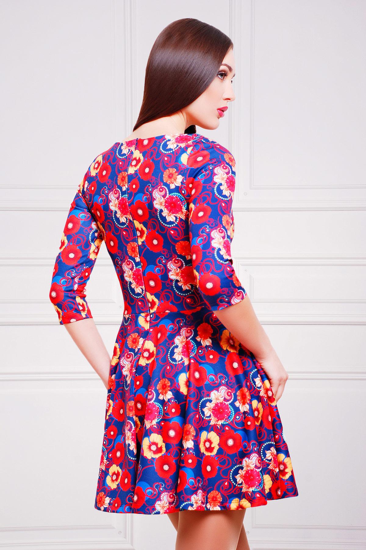 Маки-синий платье Мая д/р