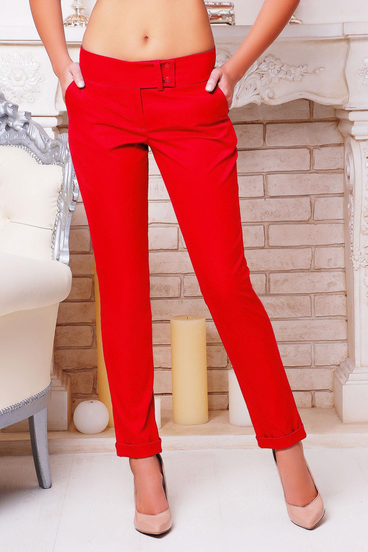 женские темно-синие брюки. брюки Хилори. Цвет: красный