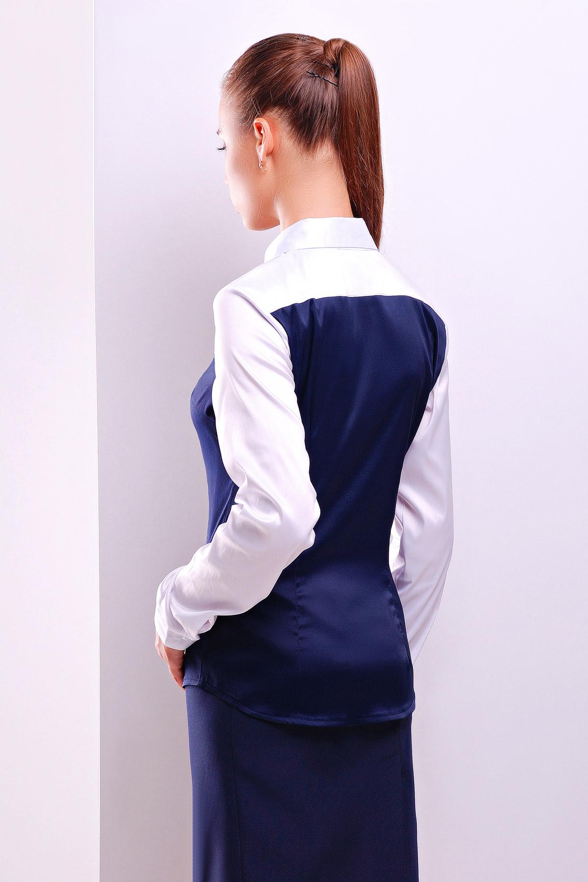 Женская блузка синяя