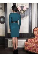 . платье Эвелина д/р. Цвет: т. зеленый