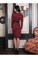 . платье Эвелина д/р. Цвет: бордовый