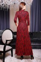 . платье Шарлота д/р. Цвет: коралл-черный узор