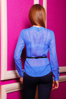 . блуза Энни д/р. Цвет: электрик-горох