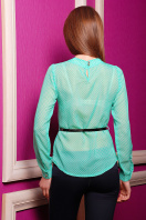 . блуза Энни д/р. Цвет: зеленый-горох