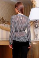 . блуза Энни д/р. Цвет: узор-лапка-мелкий