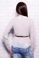Черная шифоновая блуза в белый горох. блуза Энни д/р. Цвет: белый-горох-мелкий