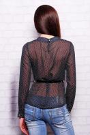 . блуза Энни д/р. Цвет: черный-горох-мелкий
