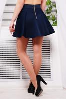 Короткая расклешенная юбка темно-синего цвета. юбка Клин Мэмори. Цвет: темно синий