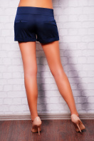 короткие белые женские трикотажные шорты из костюмной ткани. шорты Хилтон2 (короткие). Цвет: темно синий