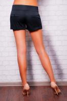 короткие белые женские трикотажные шорты из костюмной ткани. шорты Хилтон2 (короткие). Цвет: черный