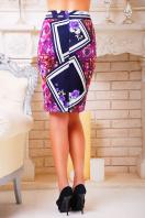 . Фиолетовый ромб юбка мод. №14 Оригами. Цвет: принт