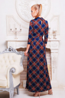 . платье Шарлота3 д/р. Цвет: синий-красная клетка