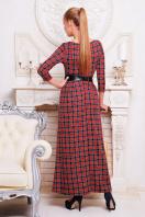 . платье Шарли д/р. Цвет: т.синий-красн.м.клетка