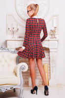 . платье Элис д/р. Цвет: т.синий-красн.кл.-бел.отд.