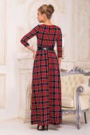 . платье Шарли д/р. Цвет: т.синий-красный б.клетка