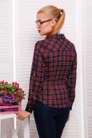 женская блузка в клетку. блуза Шотландка2 д/р. Цвет: т.синий-красный клетка
