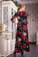 . платье Шарли2 д/р. Цвет: черный-роза крупная
