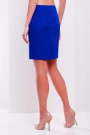 Прямая юбка выше колена кораллового цвета. юбка мод. №1. Цвет: электрик