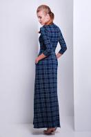 . платье Шарлота4 д/р. Цвет: синий-зеленая М клетка