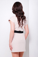 синее короткое платье прямого кроя. платье Шани б/р. Цвет: св. бежевый