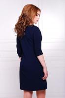 красное прямое платье. платье Элика д/р. Цвет: темно синий