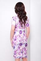 . платье Энжи к/р. Цвет: белый-фиолет.цветы