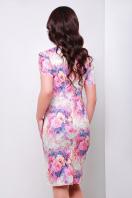 . платье Энжи к/р. Цвет: салатов.-розов.цветы