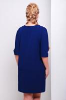 свободное темно-синее платье миди для полных. платье Элика-Б д/р. Цвет: темно синий