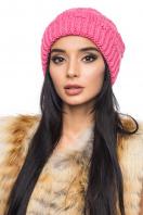 Розовая шапка с внутренним отворотом. Шапка 1060. Цвет: розовый