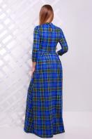 . платье Шарлота д/р. Цвет: электрик-зеленая клетка