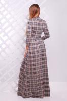 . платье Шарлота д/р. Цвет: бежевый-черная клетка