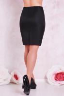 прямая юбка цвета электрик для полных женщин. юбка мод. №1 Б. Цвет: черный