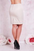 прямая юбка цвета электрик для полных женщин. юбка мод. №1 Б. Цвет: св. бежевый