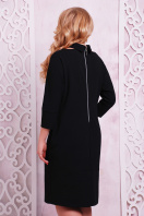 строгое платье темно-синего цвета. платье Элина-Б д/р. Цвет: черный