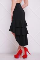 черная юбка с воланами. юбка мод. №25 (длинная). Цвет: черный
