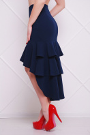 черная юбка с воланами. юбка мод. №25 (длинная). Цвет: темно синий
