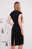 темно-синее женское платье по фигуре. платье Цезара б/р. Цвет: черный