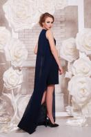 Красное платье с шифоновой накидкой. платье Ясмина б/р. Цвет: темно синий