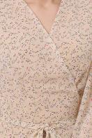 . Платье Алеста д/р. Цвет: бежевый-цветы м.