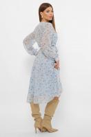 . Платье Алеста д/р. Цвет: голубой-цветы
