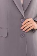 . Пиджак Сабера д/р. Цвет: серый