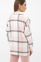 . Рубашка Роуз д/р. Цвет: клетка пудра