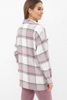 . Рубашка Роуз д/р. Цвет: клетка лиловая