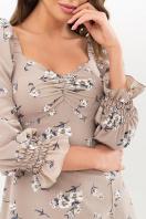 . Платье Пала д/р. Цвет: бежевый-белый букет